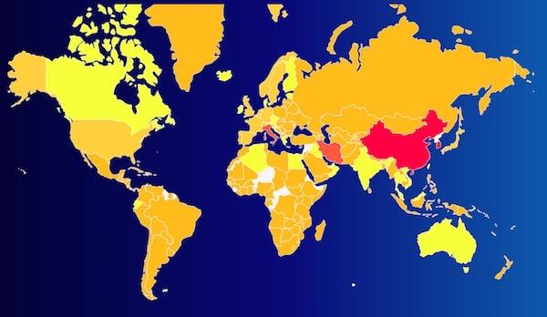 Карта поширення коронавірусу COVID-19